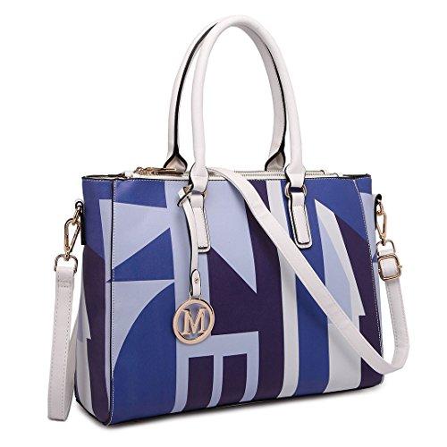 Miss Lulu, Borsa tote donna Multicolore Multicolore Blu