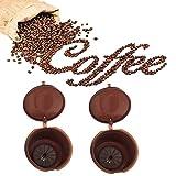 ILOVEDIY 2Stück Nachfüllbar Wiederverwendbar Kaffee Kapseln Pods für Dolce Gusto Nescafe (Kaffee)