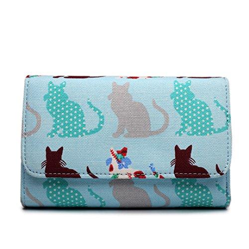 Miss Lulu , Damen Tote-Tasche Cat Purse Blue
