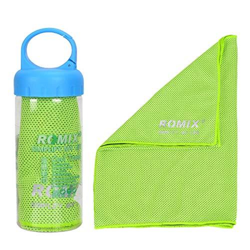 YouFia Mikrofaser-Handtuch, Kühlhandtuch Reisehandtuch Fitness- und Sporthandtuch eiskalt, saugfähig, schnelltrocknend, streichelweich 30 x 90 cm (Grün) - Mikrofaser-schulter-handtasche