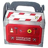 6 Geschenk-Boxen * FEUERWEHR * mit Tragegriff für Kindergeburtstag oder Motto-Party // Kinder Geburtstag Geschenktüten Mitgebsel Mitgebseltüten Tüten Geburtstagstüten Motto Feuerwehrmann Fireman Geschenk Box