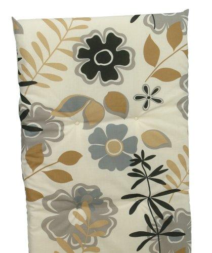 GO-TO 15109-02 poltrona Cuscino basso posteriore del fiore beige Circa. 100 x 48 x 5 cm