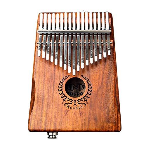 bearivt 17 Tasten EQ Kalimba Solid Acacia Daumen Piano Link Lautsprecher Elektrischer Tonabnehmer Mit Kabeltasche
