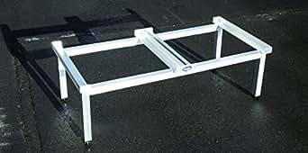 waschmaschinen komfort untergestell mara 2 verst rkte aluminium ausf hrung rostfrei. Black Bedroom Furniture Sets. Home Design Ideas