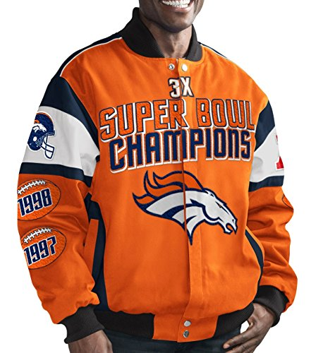 Denver Broncos NFL G-III Super Bowl Cotton Twill Commemorative Jacket (Bowl Super G-iii)