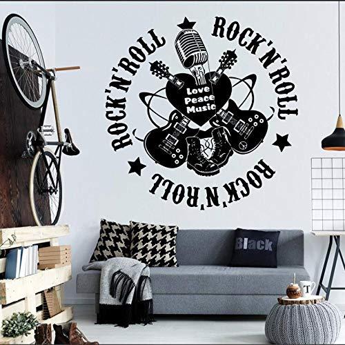 Dongwall Freies Verschiffen Rockmusik Kunst Wandbilder Wandaufkleber Wohnzimmer Dekorative Vinyl Wandaufkleber Mode Musik 42 * 42 cm (Freie Rockmusik)