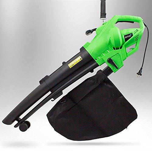 BITUXX® Elektro Laubsauger 3in1 Häcksler Laubbläser Laubhäcksler 3000 Watt Netzbetrieb mit Fangsack Rollen Schultergurt