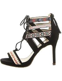 BULLBOXER 059011f2t Bkmc - Sandalias de vestir para mujer