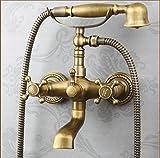 NewBorn Faucet Wasserhähne Warmes und Kaltes Wasser Guter Qualität die Dusche Voll Kupfer Antik Dusche Badezimmer Handheld Bad Dusche mit heißem und kaltem Wasser, Unter Wasser