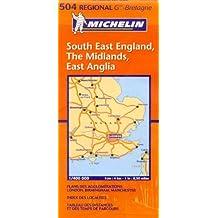 Carte RGIONAL South East England, The Midlands, East Anglia