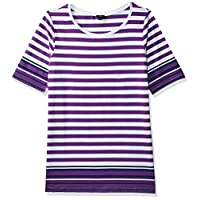 OVS Women's 191TSH286-71 T-Shirt, White (White/purple 143), Medium