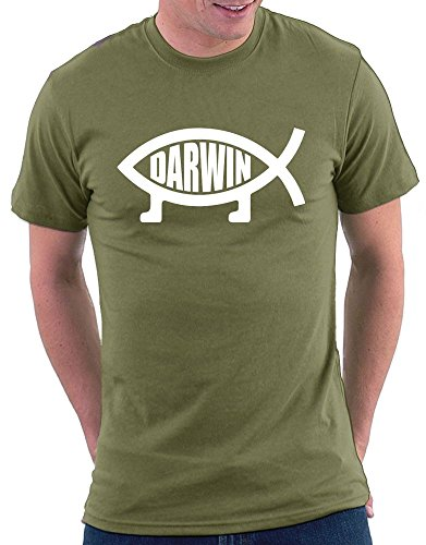 Darwin Evolution T-shirt Khaki