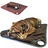 PetLove Thermal Selbstwärmende Decke für Hunde und Katzen Dunkelbraun / Pink S