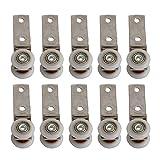 bqlzr 6,5x 1,9cm Krümmer Rohr Metall Bearing Pulley Block mit zwei Kunststoff Rad für Schiebetür Fenster Schrank