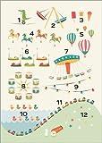 Poster 50 x 70 cm: zählen Lernen von Sandy Lohß - hochwertiger Kunstdruck, Kunstposter