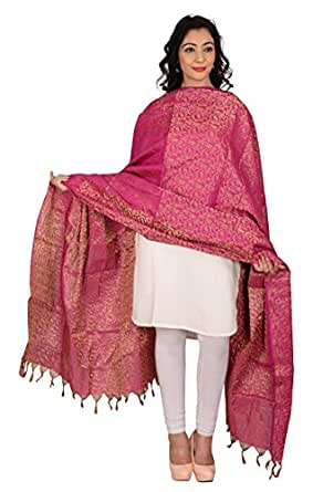 YOUTHQUAKE Women's Art Silk Zari Dupatta With Tessels