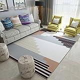 YU&AN Wohnzimmer Dauerhaft FußMatten,Indoor Dekorative FußMatten Mat Bereich Für Schlafzimmer Wohnzimmer Bay-Fenster-K 120x160cm(47x63inch)