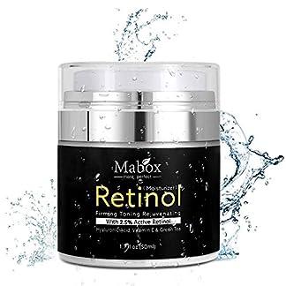 Crema hidratante para rostro con retinol, de Pawaca, fórmula antienvejecimiento que reduce las arrugas y líneas finas, con vitamina A,D,E,50 ml con 2,5% de retinol activo ácido hialurónico té verde