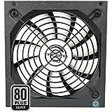 Tacens Radix VII AG - Fuente de alimentación para PC (600 W, ATX, PFC activo, ventilador 14 cm, 12 V, 80 Plus Silver, +87% eficiencia, ecológico), color negro