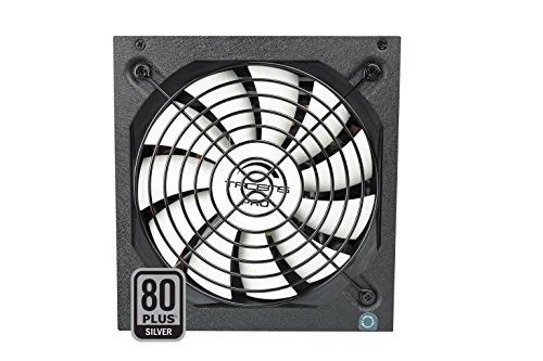 Tacens 1RVIIAG600 - Fuente de alimentación para ordenador (600W, 87% de eficiencia, ATX, 12V, ventilador 14 cm, 80 Plus Silver, estándares ecológicos) color negro