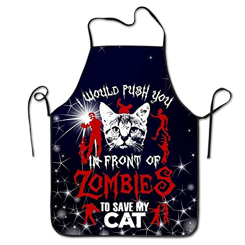 kslae Unisex Push You Vor Zombies Save Cat Kitchen Schürzen