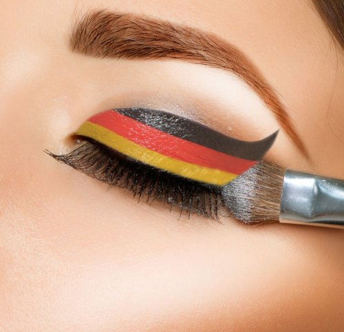 Crazy Eyes Lidschatten Tattoo WM Special 2018 Deutschland 3er Set, Deutsche Flagge, Fanartikel Deutschland Fanschminke Deutschlandfahne Fussball Nationalmannschaft