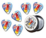 Rocket Ice Lolly Martin Wiscombe 6 X Gitarre Plektrums Picks In Tin Vintage Retro