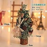 WUFANGFF Uns Weihnachtsbaum Schreibtisch Tisch Einrichtung Mini Dekorationen Kleine Kiefer (26 cm), F