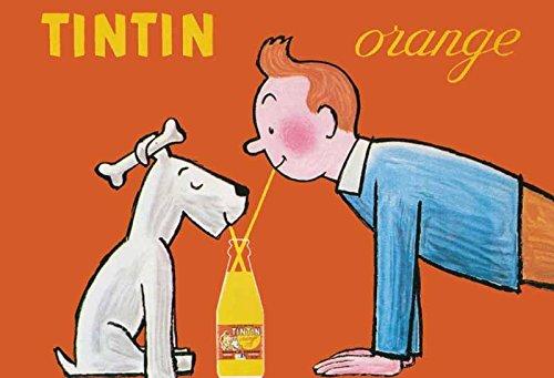 Schatzmix Tintin Tim Struppi orange blechschild