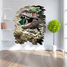 GenialES 3D Pegatina de pared Dinosaurios Vinilo Decorativo Adhesivo PVC para Infantiles Dormitorio 60X90cm C