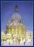 Weihnachtsmarkt an der Dresdner Frauenkirche. Adventskalender