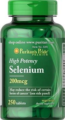 Puritans Pride High Potency Selenium 200 mcg 250 Tablets from Puritans Pride