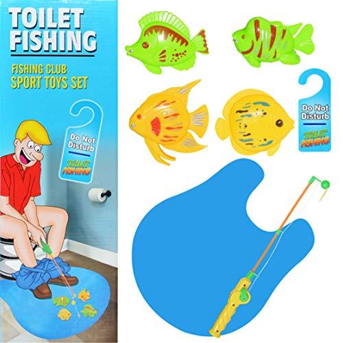 Happy Event magnético Juguete, Inodoro–Angel Juego | Potty Time Parte de pez para Adultos y niños