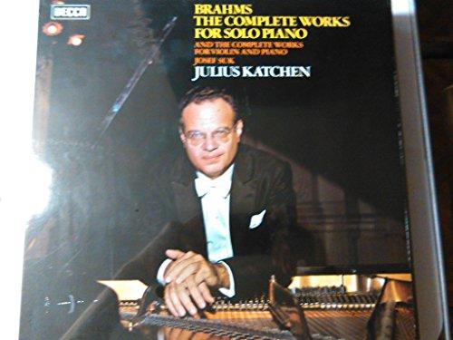 BRAHMS, Johannes: The complete works for piano solo -- Julius Katchen (piano) -- DECCA ()--VINYL-DEC SDDA 261/9-DECCA - Inghilterra-BRAHMS Johannes (Germania)-KATCHEN Julius (pianoforte) (Johannes Brahms Complete Works)