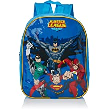 DC 9825029HV - Mochila para niños de la Liga de la Justicia con Batman, Superman, Linterna Verde y Flash, 33cm