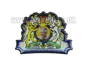 Jubilé de diamant Métal Découpe Frigo Magnet-SM la Reine Elizabeth II