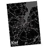 Mr. & Mrs. Panda Postkarte Stadt Kiel Stadt Black - Stadt Dorf Karte Landkarte Map Stadtplan Postkarte, Postkarten, Einladungskarte, Geschenkkarte, Brief, Spruch des Tages, Kärtchen, Geschenk, Karte, Papier, Einladung, Fan, Fanartikel, Souvenir, Andenken, Fanclub, Stadt, Mitbringsel