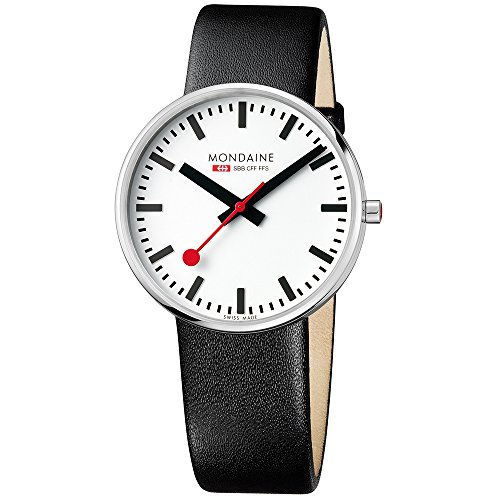 Mondaine Unisex-Adult Quartz Watch, Analogue Classic Display and Leather Strap MSX.4211B.LB