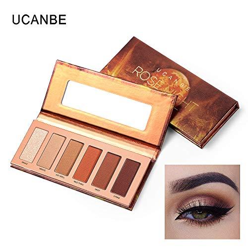 6 Colours Perlglanz-Lidschatten, Matte Durable & Shimmer Warm,Professional Mineral Pigment Eye Shadow Palette Beauty Makeup,Eye Shadow Palette Nude Beauty Makeup (Mehrfarben) -