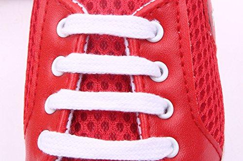 Bigood Liebe Baby Masche Schuhband Baby Schuh Fussball Muster Lauflernschuhe Rot