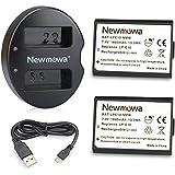 Newmowa LP-E10 Batería de repuesto (2-Pack) y Kit de Cargador Doble para Micro USB portátil para Canon EOS Rebel T3 T5 1100D 1200D Kiss X50