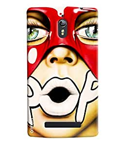 Omnam Pout With Written Pop Printed Designer Back Cover Case For Oppo Find 7