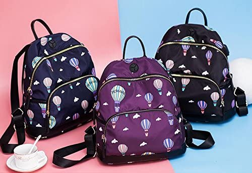 Sac à dos scolaire pour enfant Creative Creative Creative sac à dos d'impression de ballon d'air chaud sac à dos de voyage à glissière (noir) B07KXN6RRX   Outlet  ff1691