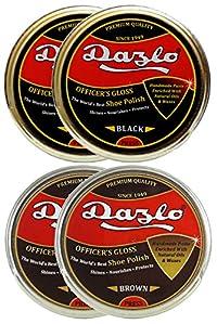 Dazlo® Shoe Wax Polish Black - Pack of 2 X 100g