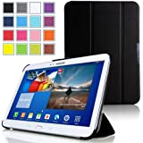 Mulbess - Samsung Galaxy Tab 4 10.1 Slim Smart Funda Cover - Funda fina con tapa soporte para Samsung Galaxy Tab 4 10.1 Color Negro