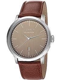 Esprit Herren-Armbanduhr Soter Analog Quarz Leder EL102131F02