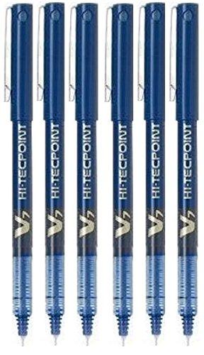 Hi Spitze (Pilot Hi Tecpoint V7 BX blau Tintenroller, fein, 0,7 mm Spitze, 0,5 mm Strichbreite, 6 Stück)