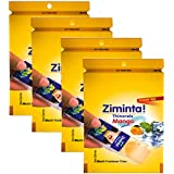 Ziminta Sugar Free Mint Mouth Freshener Easily Soluble Digestive Dispensable Strip - 30 Strips (Mango Flavour) - Pack of 4