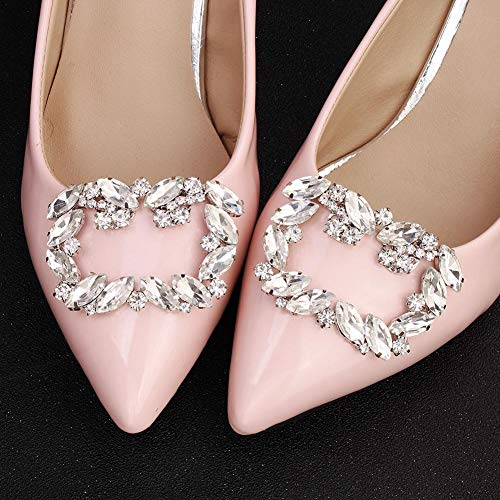 IPOTCH Clip de Zapatos Floral con Diamantes Artificiales Hebilla de Calzado de Novia Sandalias de Tac/ón Alto DIY