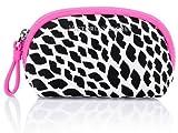 Victoria Secret Pink Best Deals - Victoria's Secret Mini Accessory Mini Bag with Zipper Pink with Black Lips Print
